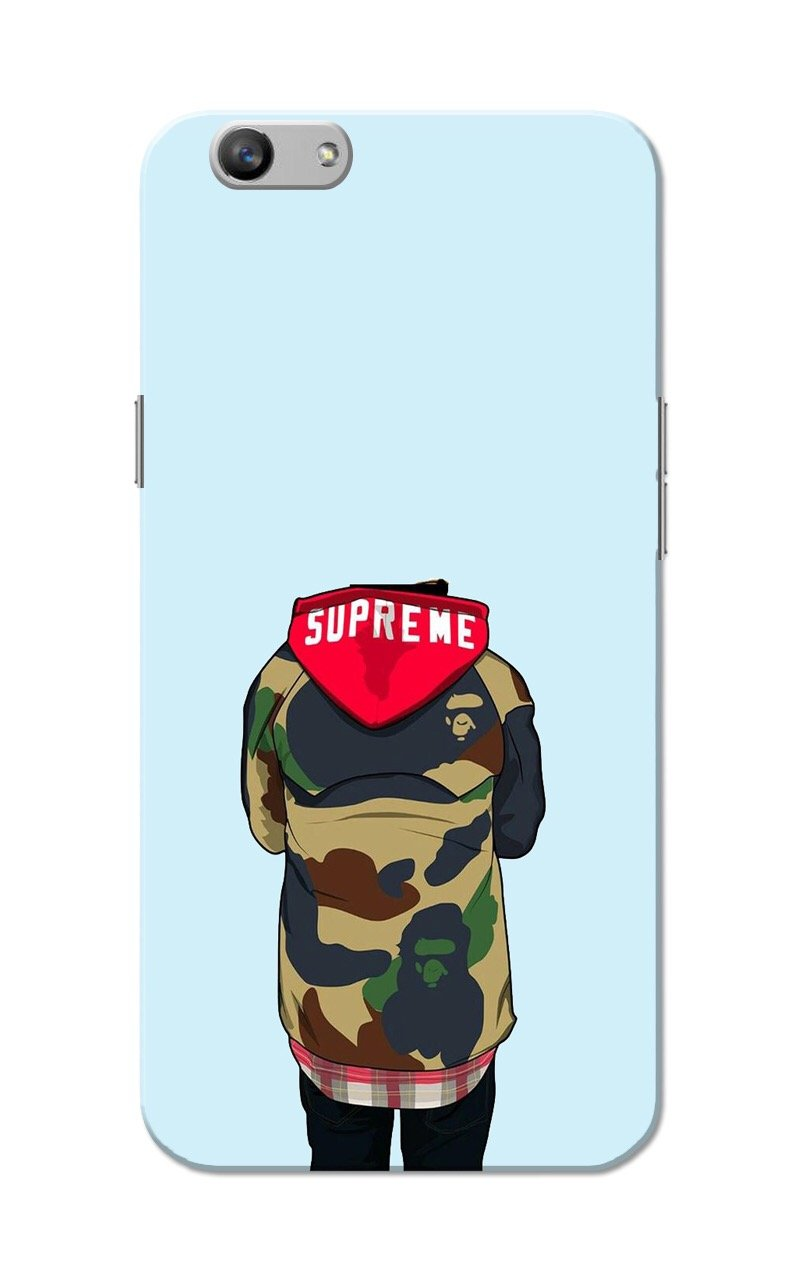 huge discount 138a5 f73b4 Oppo F1s - Supreme Hoodie Slim Fit Hard Back Case Cover: Amazon.in ...