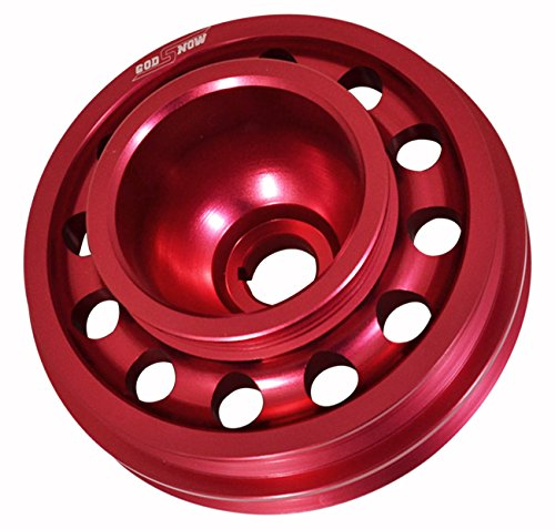 Crankshaft Pulley Civic Honda - Light Weight Replacement Red Aluminum Crank Shaft Pulley For D-Series Sohc Engines