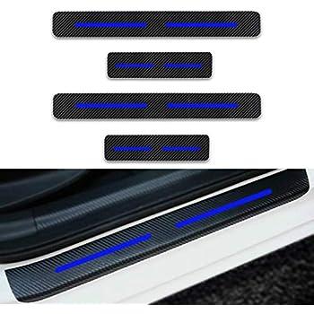 Luyao Door Sill Step Threshold Shield Fits 2017-2018 Ford SuperDuty F250 F350 Crew Cab 4pc