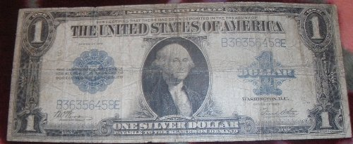 1923 One Dollar Silver (One Dollar Silver Certificate)