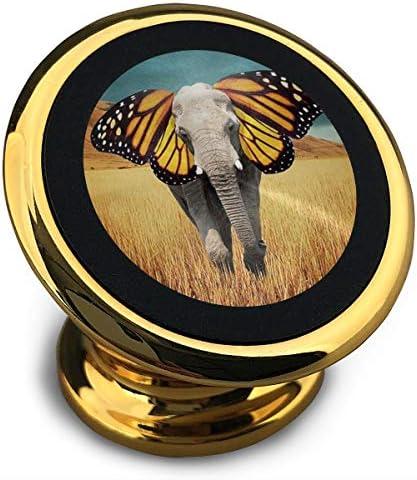 蝶の耳付きエレフォン 携帯電話ホルダー おしゃれ 車載ホルダー 人気 磁気ホルダー 大きな吸引力 サポートフレーム 落下防止 360度回転