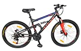 Atlas U-40 26 Inches 21Speed Dual Shox Unisex Bicycle For Adults Black & Red