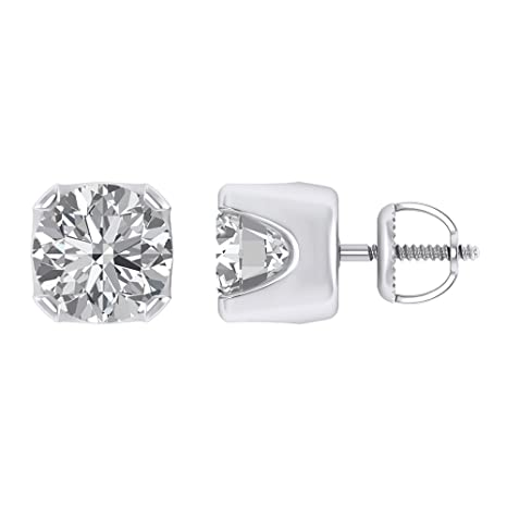 3ef6ea6b9 Image Unavailable. Image not available for. Color: Pretty Jewels 925 Silver  4 Prong 9mm Cubic Zirconia Pure Brilliance Cubic Zirconia Earrings