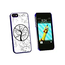 Graphics and More Tree of Life Distressed Snap-On Hard Protective Case for iPhone 5/5s - Non-Retail Packaging - Blue