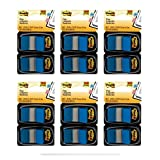 Post-it Flags, 1 Inch, Blue, Two Dispensers per Pack, 6 Pack (680-BE2)