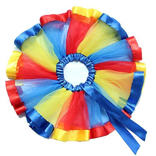 Tiered Girls Rainbow for Color C Girls Princess Dress Tutus Skirt Tutu SAOMAI Ballet Ruffle Dance 1z7wq