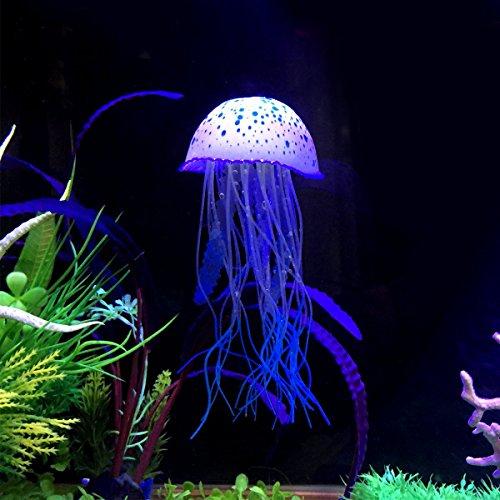 Image of Saim Artificial Fluorescent Jellyfish Sea Urchin Anemone Ornament for Aquarium Fish Tank