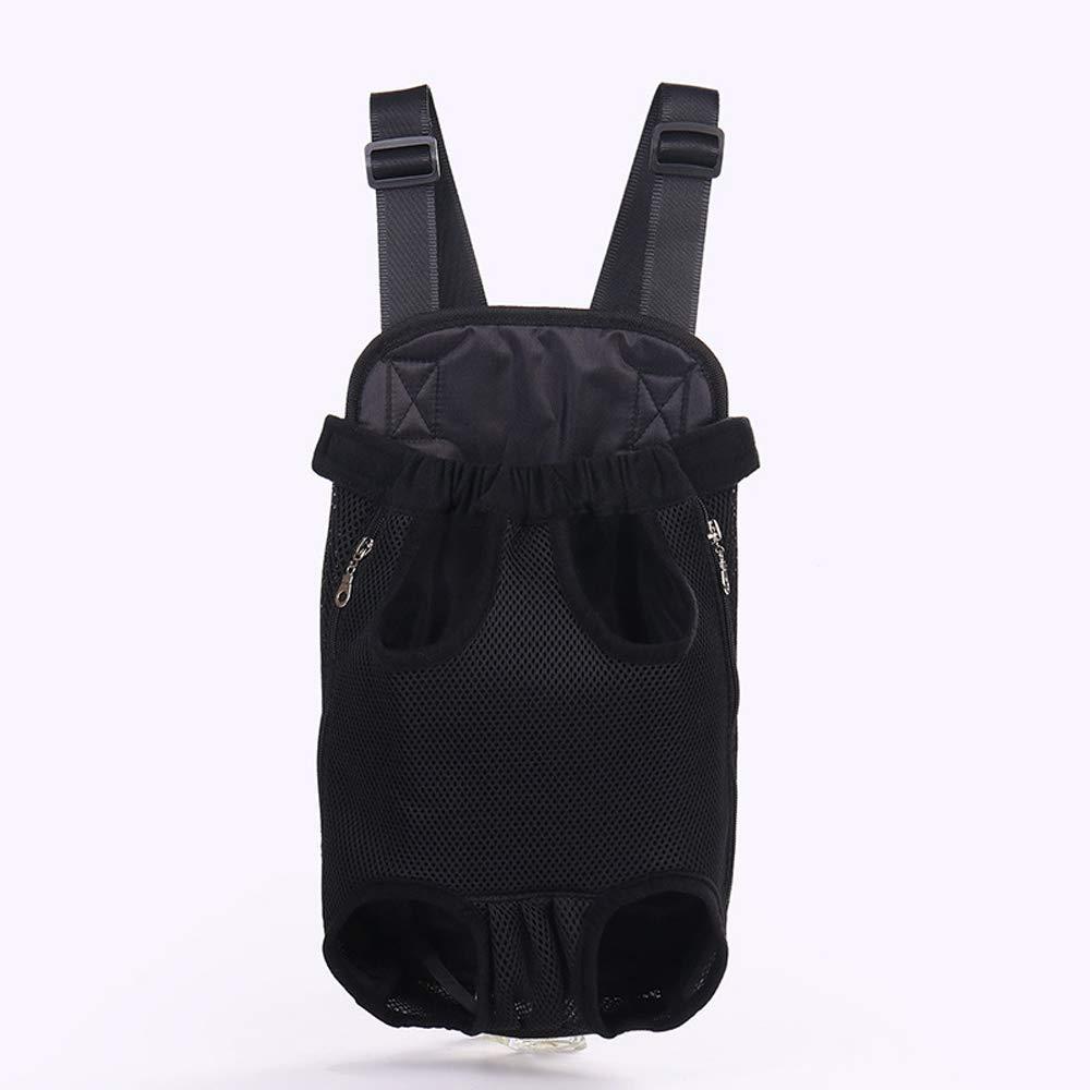 BLACK Xl BLACK Xl LLYU Dog Backpack, Bare Leg Adjustable pet Dog Backpack Carrier Walking Hiking Bike and Motorcycle (color   Black, Size   XL)
