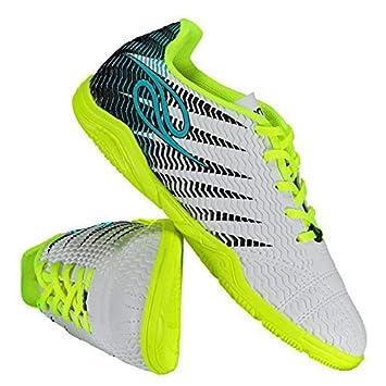 e1a173c681 Chuteira Dalponte Wembley Futsal Juvenil Branca e Turquesa  Amazon ...
