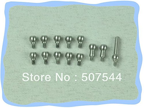 (Yoton Accessories Tarot MS25055A 250 Parts Black Stainless Steel Linkage Ball Tarot 250 Parts with Tracking)