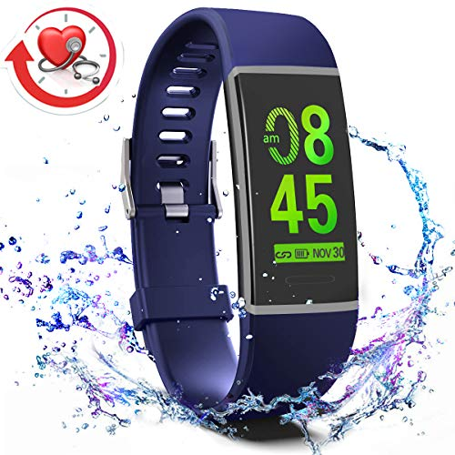 MorePro X-Core Fitness Activity Tracker Color Screen, Sleep Tracker Waterproof Health Watch with Heart Rate Blood Pressure Monitor, Step Calorie Counter Exercise Pedometer for Women Men