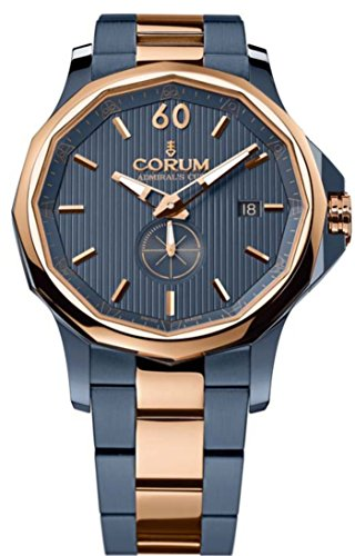 Corum Admirals Cup Legend 42 Men's Watch Rose Gold Blue PVD 395.101