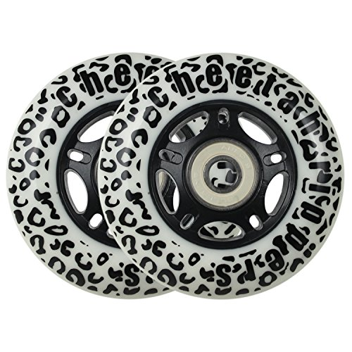 WHITE CHEETAH Wheels for RIPSTICK ripstik wave board ABEC 9 76MM 89A OUTDOOR by Cheetah Rippers