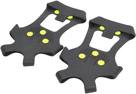 MAGT Snow Spikes, 1 Par Universal 10 Dientes Antideslizante Cleat Ice Grip Shoe Grips Spikes Clempons para Senderismo Escalada(M:36-38)