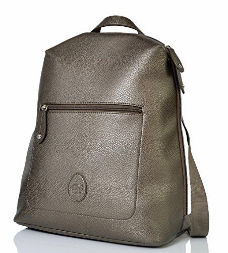 PacaPod Hartland Gunmetal Designer Baby Diaper Bag