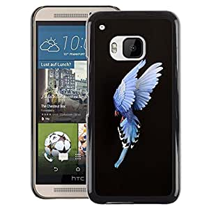 A-type Arte & diseño plástico duro Fundas Cover Cubre Hard Case Cover para HTC One M9 (Bird Feathers Meaning Inspirational)