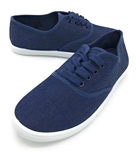 Blue berry 2017 EASY21 Women Canvas Mesh Upper Fashion Falts Ballet Shoes RANGE05,Denim,5