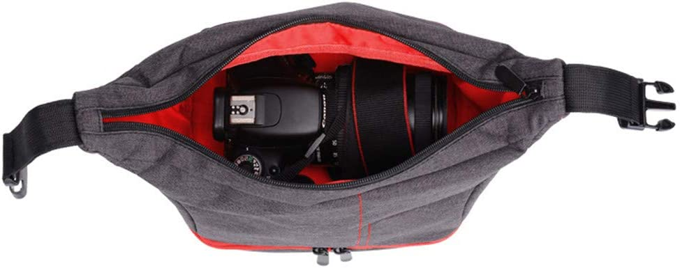 Color : Red Dertyped Digital Accessory Storage Bag Photography Bag Camera Equipment Storage Bag Shoulder Diagonal Camera Bag Universal Travel Digital Accessories Storage Bag