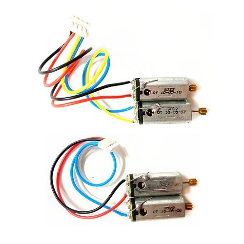 1 PAIR FRONT & REAR MAIN MOTOR SET FOR SYMA S022 022 / S34 RC HELICOPTER SPARE PARTS S022-19 ()