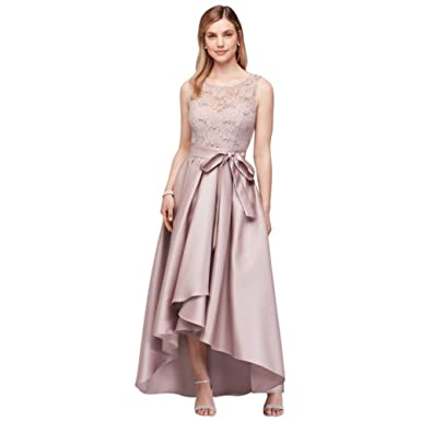 Sequin Lace Mother Of Bride Groom Dress With Mikado Skirt Style 3552DB Shell