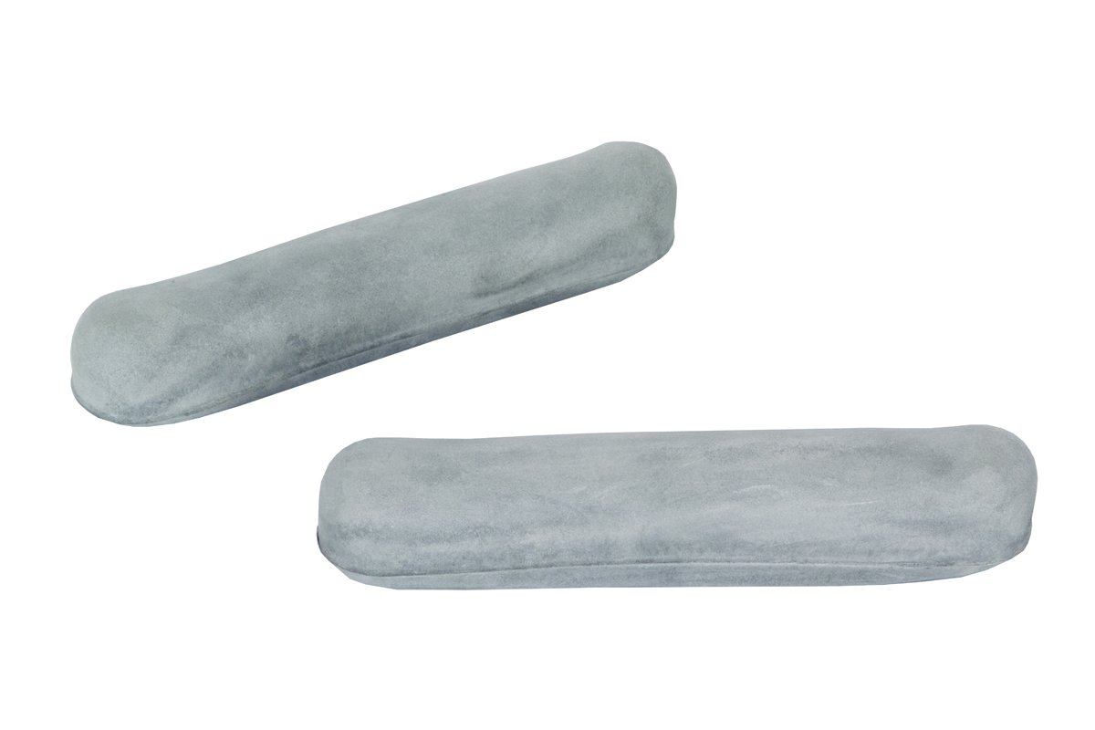 Essential Medical Supply Soft Gray Replacement Arm Pads for Crutches