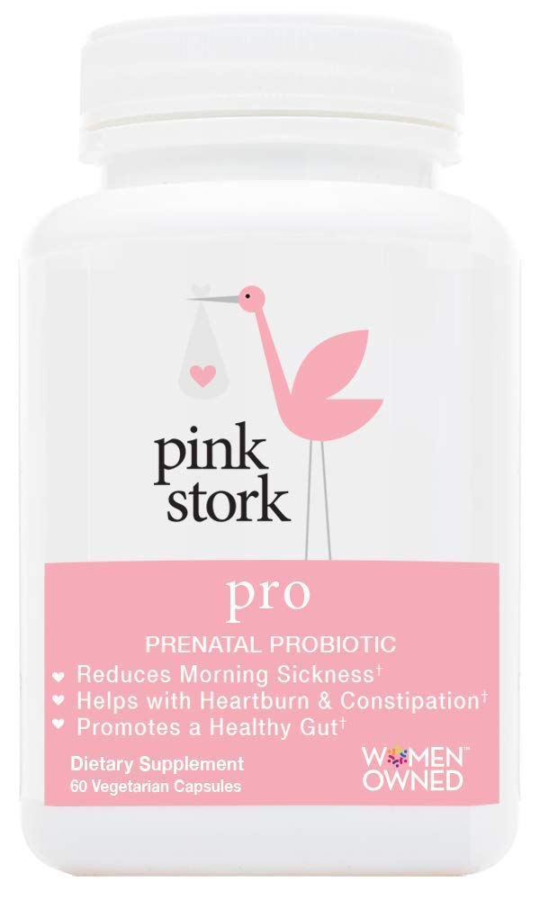 Pink Stork Pro: Pregnancy Probiotic -for Morning Sickness & Gut Health -Developed for Pregnancy -Good Bacteria for Digestive & Immune Health -for Relief from Heartburn, Constipation & More by Pink Stork