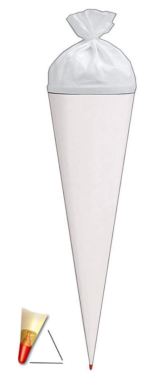zum Basteln 35 cm Rohling // Bastelschult/üte mit Filzabschlu/ß einfarbig kr/äftiges BLAU Unbekannt Schult/üte Zuckert/üte Bemalen und Bekleben