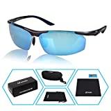 Yodo UV400 Polarized Sunglasses Driver Glasses for Women Men Sports Fishing Business with Unbreakable Frame,Ice Blue