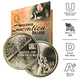 2018 D American Innovation Dollar Coin Set with Custom Folder - George Washington Denver US Mint $1 Dollar Coin from American Innovators Collection Uncirculated