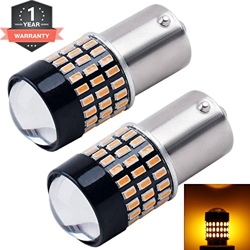 Cargo LED Extremely Super Bright 1156 1141 1003 1073 BA15S 7506 LED Replacement Light Bulbs Lens,78 SMD 3014 900 Lumens for Turn Signal Lights 12v-24v Pack of 2 (Amber&Yellow)