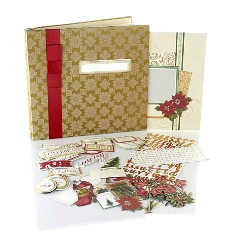 Anna Griffin Crafts Christmas Holiday Scrapbook Photo Album Kit