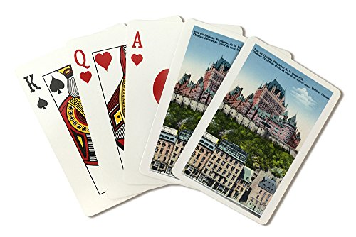 Quebec, Canada - Exterior View of the Chateau Frontenac from Lower Town (Playing Card Deck - 52 Card Poker Size with Jokers)
