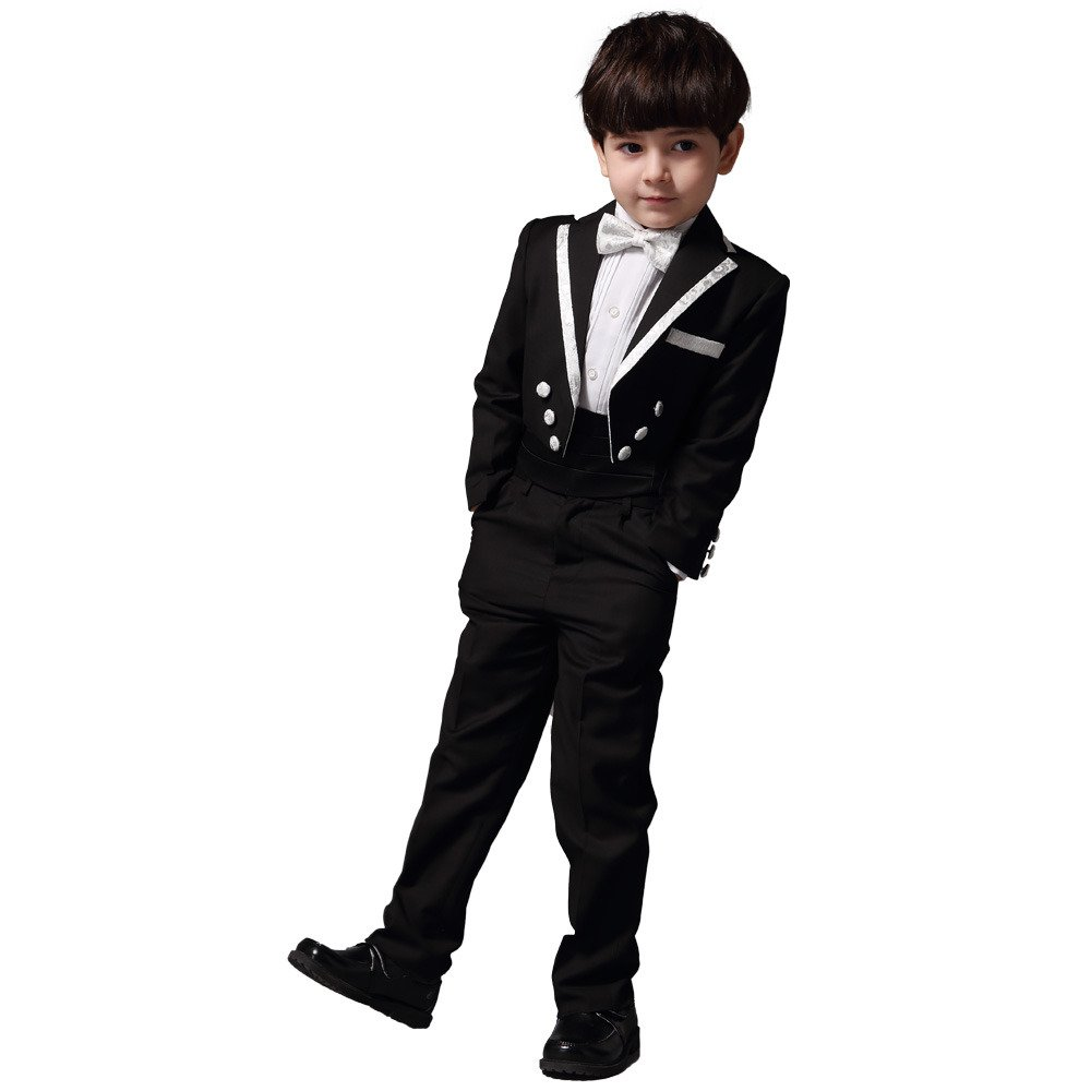ELF EYAS Little Boys Formal Suit Tuxedo Style with Tail