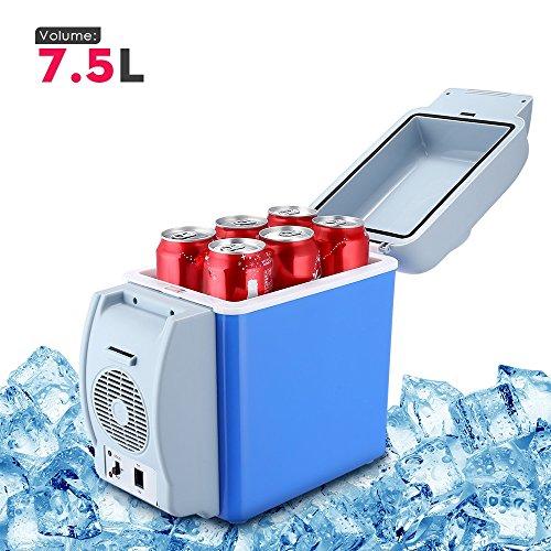 BISOZER Portable 7.5L Mini 12V Car Refrigerator Freezer Dual-Use Home Travel Vehicular Car Fridge Dual-Mode Temperature Control Dual-use (Best Small Fridge Freezer Uk)
