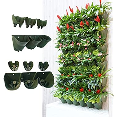 Worth Self Watering Vertical Garden PlanterxFF0C;Greening Wall FlowerpotxFF0C;Hanging Plant Pots with 3-pockets and 3pc Filter LayerxFF08;Buy 3 Sets GetxFF09;xFF0C;Perfect for Indoor & Outdoor Decoration