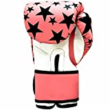 Fitness Workout Hand Women Gym Training Boxing Fight Gloves (Material: Synthetic Leather, Color: Pink) (8oz)