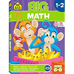 School Zone - Big Math Grades 1-2 Workbook - Ages 6 to 8, First and Second Grade, Addition, Subtraction, Early Math, and More (School Zone Big Workbook Series)