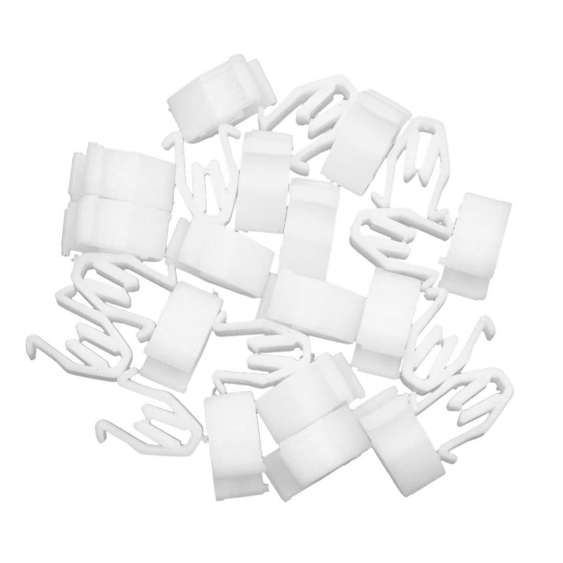 X AUTOHAUX 25pcs Universal White Car Console Retainer Auto Dashboard Instrument Clip