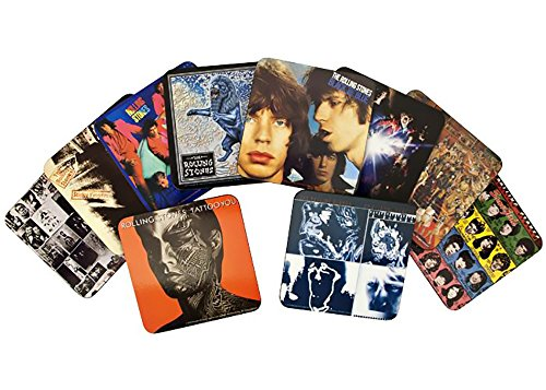(Rolling Stones 10 pcs Album Cover Coasters Set)