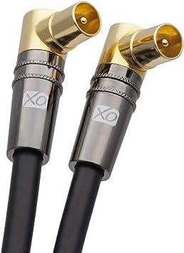 100 X RF Coax Rechtwinklig TV Stecker Für TV Antennenkabel Freeview