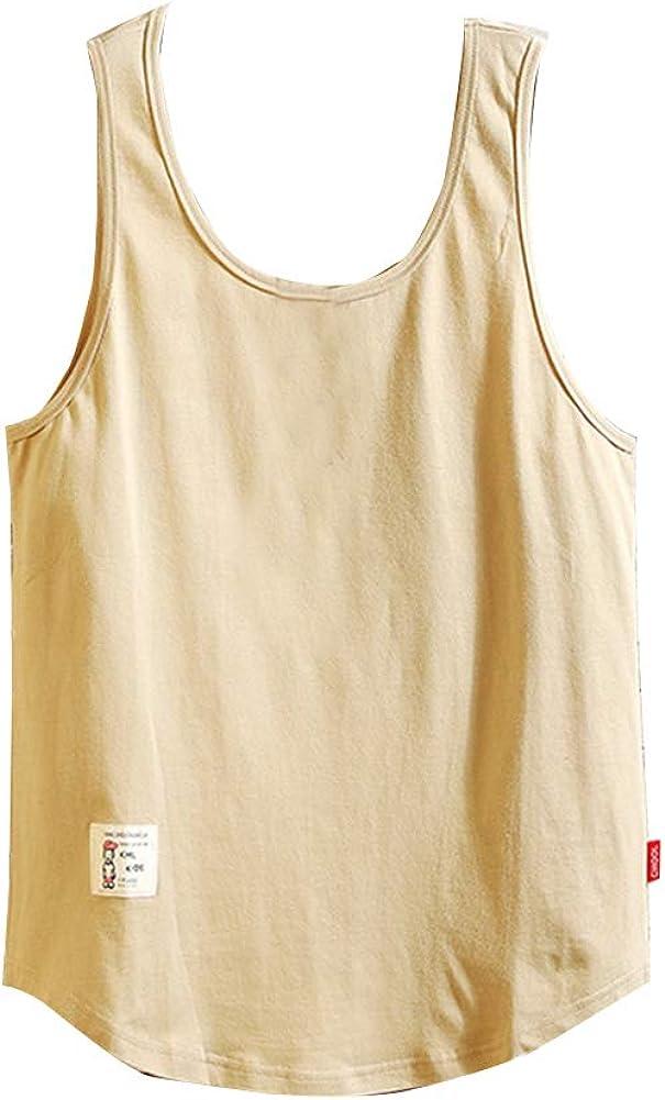 Camisetas de Tirantes Hombres, SHOBDW Verano RelajacióN