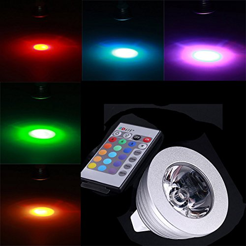 Lights & Lighting - Mr16 3w Rgb Multicolored Ir Remote Control Light Bulb (12v) - Remote Control Light Bulb - Color Changing - - Dimensions Sunglasses Chart