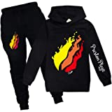 Dgfstm Prestonplayz Youtuber Boys Girls Hoodie + Pant Set Pullover Sweatshirts Hooded Tracksuit Preston Playz Sportsuits