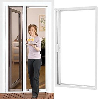 h-p-s-msk – Mosquitera enrollable para puerta 140 x 220 cm Marco de Aluminio en blanco con malla de fibra de vidrio: Amazon.es: Bricolaje y herramientas