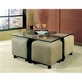 this item coffee table with beveled glass top and black metal frame