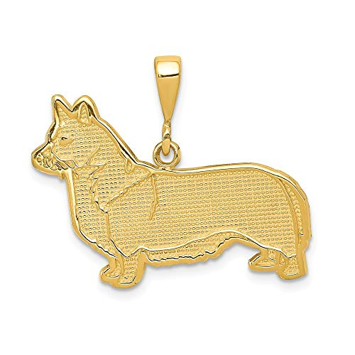 (14K Yellow Gold Welsh Corgi Pendant from Roy Rose Jewelry)