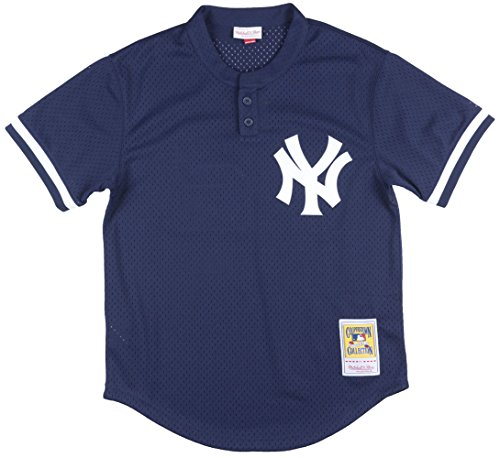 Mitchell & Ness Mariano Rivera Navy New York Yankees Authentic Mesh Batting Practice Jersey X-Large (48)