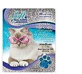 Feline Soft Claw Nail Caps - Medium - Blue Sparkle