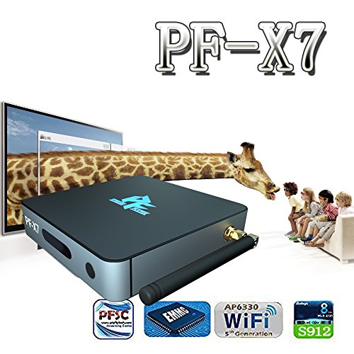 [New Model] Pigflytech PF-X7 Android TV Box Mini host & Ultra HD Video Playback 8 Core 2GB/16GB/4K/S912/802AC by Pigflytech