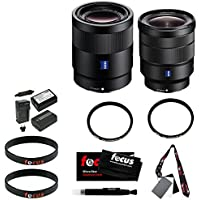 Sony Sonnar T FE 55mm F1.8 ZA Camera Lens + Sony Vario-Tessar T FE 16-35mm f/4 ZA OSS Lens + Accessory Kit